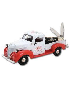 Frost Cutlery World's Greatest Dad Truck & Winter Aged Bone Mini Trapper Knife Set
