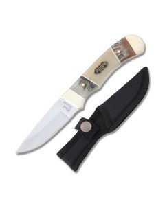 Frost Cutlery Steel Warrior Hunter Stainless Steel Blade Ram/Ox Horn Handle