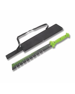 """Frost Tac Assault Vampire Slayer Chopper Sword with Molded ABS Handles and Black Coated Stainless Steel 17"""" Sword Serrated Edge Blades Model TA-082GB"""