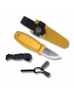 """MORAKNIV Eldris Neck Knife with Yellow Polymer Handles and Satin Finish Stainless Steel 2.375"""" Clip Point Plain Edge Blade Model 12632"""