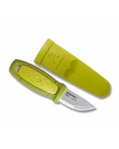 "MORAKNIV Eldris Pocket Fixed Blade Knife with Green Polymer Handles and Sandvik 12C27 Stainless Steel 2.375"" Clip Point Plain Edge Blade Model 12651"