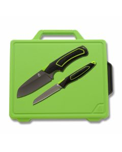 Gerber Outdoor Freescape Camp Kitchen Kit with Rubber Handle and 7Cr17MoV Stainless Steel Blade Model 30-001041