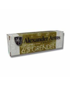 Alexander Arms 6.5 Grendel 130 Grain Polymer Tip Boat Tail 20 Rounds