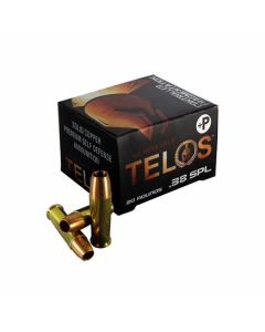 G2 Research Telos 38 Special +P 105 Grain Fragmenting Hollow Point Solid Copper Lead Free 20 Rounds