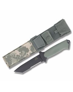 "Gerber Prodigy Tanto with TacHide and Black Glass Filled Nylon Handle and 420HC Stainless Steel 4.75"" Tanto Partially Serrated Blade and Nylon Sheath Model 31-000558"