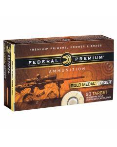 Federal Premium Gold Medal 223 Remington 73 Grain Berger Hybrid BT Open Tip Match 20 Rounds