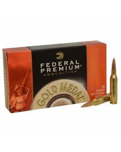 Federal Premium Gold Metal 260 Remington 142 Grain Sierra Match King BT Hollow Point 20 Rounds