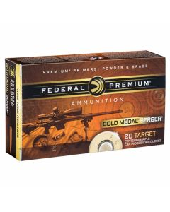 Federal Premium Gold Medal 308 Winchester 185 Grain Berger Open Tip Match 20 Rounds