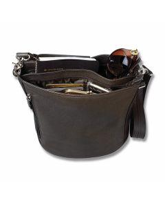 Gun Tote'N Mamas Concealed Bucket Tote Handbag - Brown