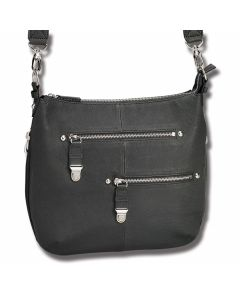 Gun Tote'N Mamas Concealed Carry Zip Handbag - Black