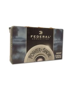 "Federal Power Shok 12 Gauge 2.75"" Buckshot 9 Pellets 00 Buck 5 Rounds"