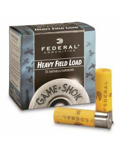 "Federal Game Shok 20 Gauge 2.75"" 1 oz #4 Lead Shot 25 Rounds"