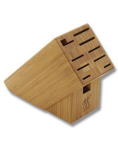 Henckels TWIN 10-Slot Bamboo Knife Block (Empty)