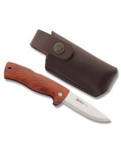"Helle Skala Cocobolo Handle with 12C27 Sandvik Stainless Steel 3.375"" Drop Point Plain Edge Blade Model 212"