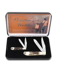 Hen and Rooster Huntin Buddies Set with Stag Handles and Stainless Steel Blades Model HR-212422HB
