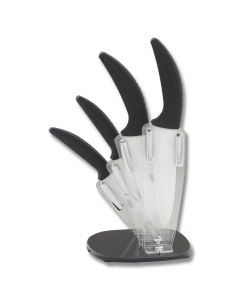 Hen and Rooster International 5 Piece Kitchen Set with Composition Handles and Ceramic Blades Model HRI-021
