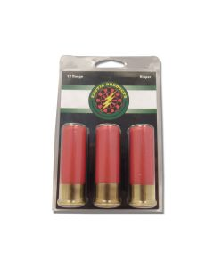 """Exotic Products Ripper 12 Gauge Steel Tacks/#12 Lead Shot 2-3/4"""" 3 Rounds"""