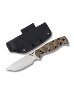 "GTI Custom 9"" Fixed Blade Hunter with Tri-Color G-10 Handle and Satin Finish 154CM Stainless Steel 4.25"" Plain Edge Drop Point Blade Model HUNTER2"