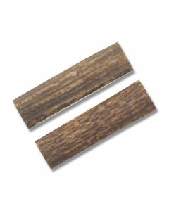 "Genuine India Stag Handle Slab Pairs Measures 3.25"" x .875"""