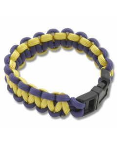 Knotty Boys Medium Paracord Survival Bracelet - Purple and Yellow