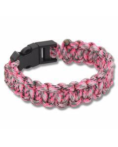 """Knotty Boys Pink Camo 9"""" Paracord Bracelet"""