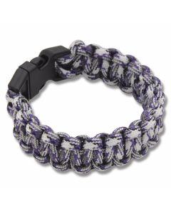 """Knotty Boys Purple Camo 9"""" Paracord Bracelet"""