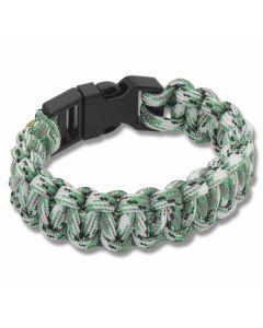 """Knotty Boys Green Camo 9"""" Paracord Bracelet"""