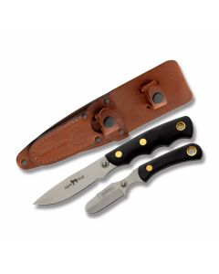 Knives of Alaska Alpha Wolf Drop Point Hunter and Muskrat Skinner with SureGrip Handles and D2 Tool Steel Plain Edge Blades Model 00362FG