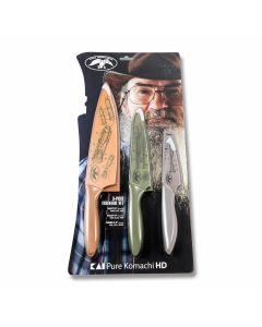 Kershaw Duck Commander 3 Piece Kitchen Set with Polymer Handles and 3Cr Stainless Steel Blades Model 0310