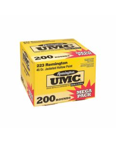 Remington UMC 223 Mega 45 Grain Jacketed Hollow Point 200 Rounds