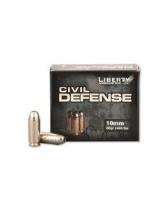Liberty Civil Defense 10mm Auto 60 Grain Fragmenting Hollow Point Lead Free 20 Rounds