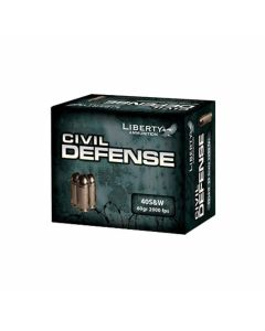 Liberty Civil Defense 40 S&W 60 Grain Fragmenting Hollow Point Lead Free 20 Rounds
