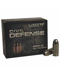 Liberty Civil Defense 45 ACP +P 78 Grain Fragmenting Hollow Point 20 Rounds
