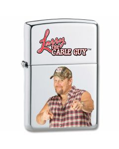 Zippo Larry the Cable Guy Brushed Chrome Lighter