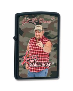 Zippo Larry the Cable Guy Git-R-Done® Black Matte Lighter