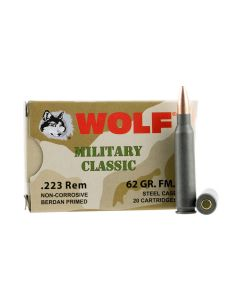 Wolf Military Classic 223 Remington 55 Grain Full Metal Jacket 500 Rounds