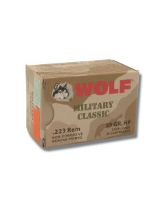 Wolf Military Classic 223 Remington 55 Grain Hollow Point 20 Rounds