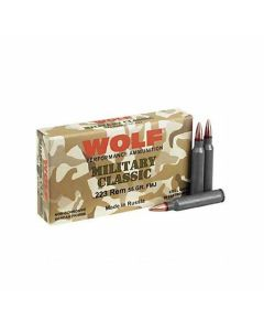 Wolf Military Classic 223 Remington 55 Grain Hollow Point 500 Rounds
