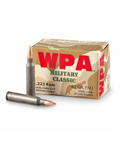 Wolf Military Classic 223 Remington 62 Grain Full Metal Jacket 500 Rounds
