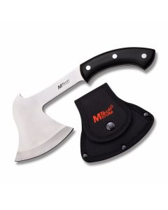 Master Cutlery MTech USA Camp Axe with Black Pakkawood Handle and Satin Finish Stainless Steel Blade Model MT-AXE9