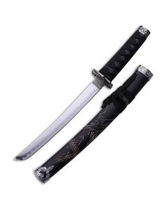 """Master Cutlery Oriental Sword with Black Cord Wrapped Handle and Carbon Steel 14.5"""" Blade Model YK-58SD"""