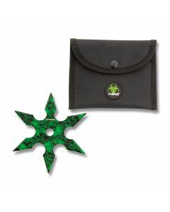 Master Cutlery ZHunter 6 Point Throwing Star - Green