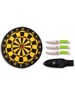 """Z Hunter Throwing Knives Set 6.5"""" Overall with Target Board Model ZB-154SET"""