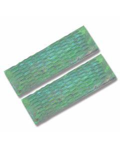 Green Jigged Bone Handle Slab Pairs
