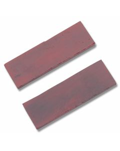 Red Smooth Bone Handle Slab Pairs