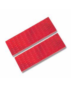 Red Jigged Bone Handle Slab Pairs