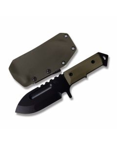 "Medford Knives Short Sea Wolf with Black G-10 Handles and Matte Black Oxide D2 Steel 4.50"" Spear Point Plain Edge Blades Model MK69DP-10KO"