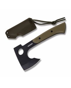 "Medford Knives Bearded Hatchet with OD Green G-10 Handle and Black PVD Coated CPM-S7 Steel 3.625"" Axe Head Blade with Black Kydex Sheath Model MK967P10KO"