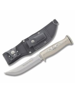 "Marble's Bear Creek Bowie with Silver Finish Handles and 440A Stainless Steel 5.439"" Clip Point Plain Edge Blade Model MR242"