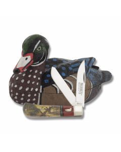 """Marble's Wood Duck Trapper Collector Set 4.50"""" with Acrylic Handles and Stainless Steel Plain Edge Blades Model MR399"""